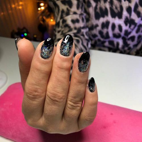 Black & Glitter Ombre